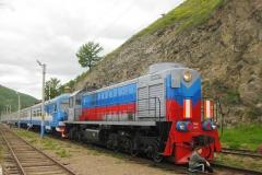 Поезд на КБЖД - Туризм на Байкале