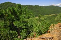 На вершине гребня - Отдых на Байкале