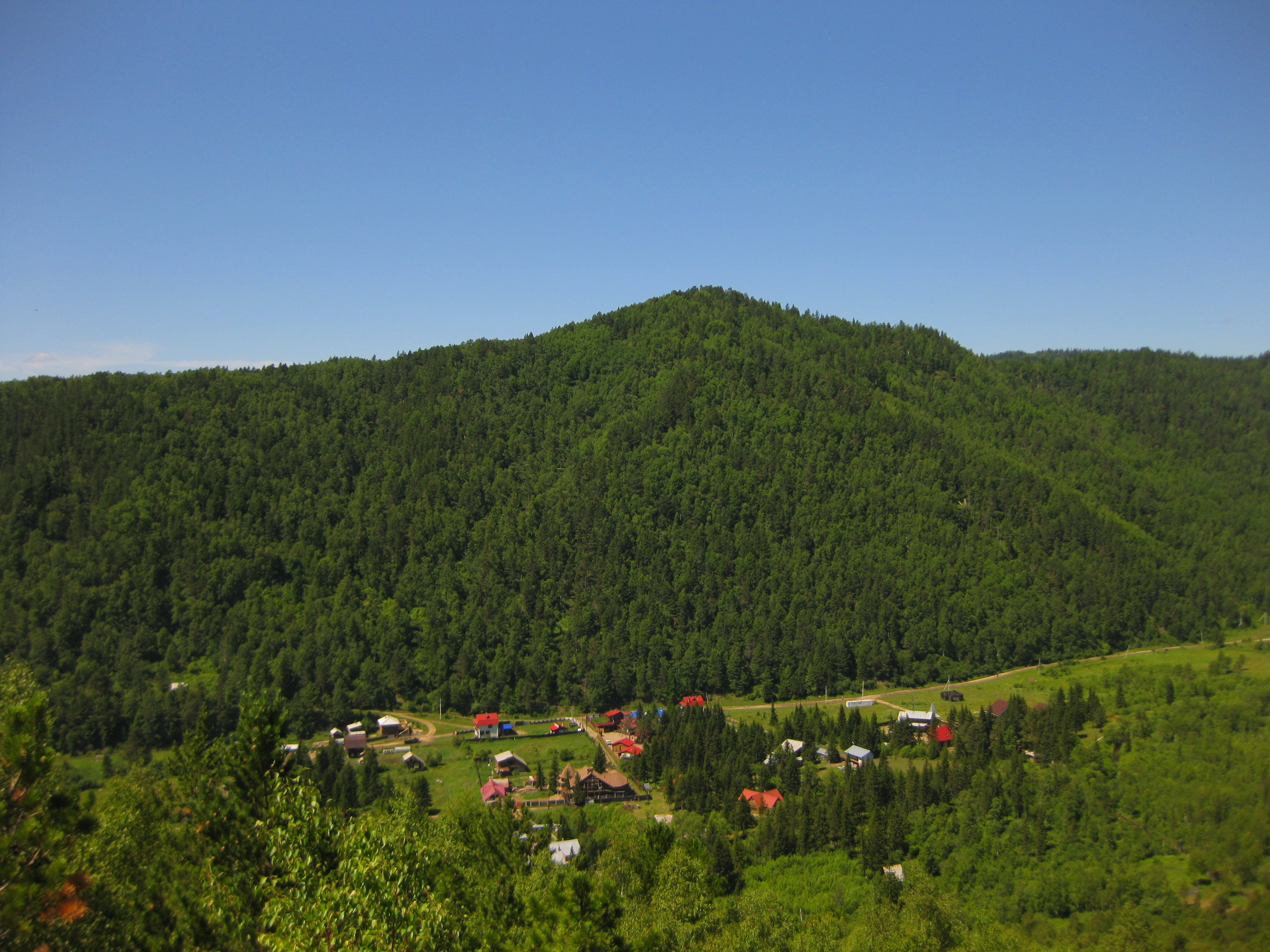 Valley of the Krestovaya at Lake Baikal. Rest in Listvyanka.